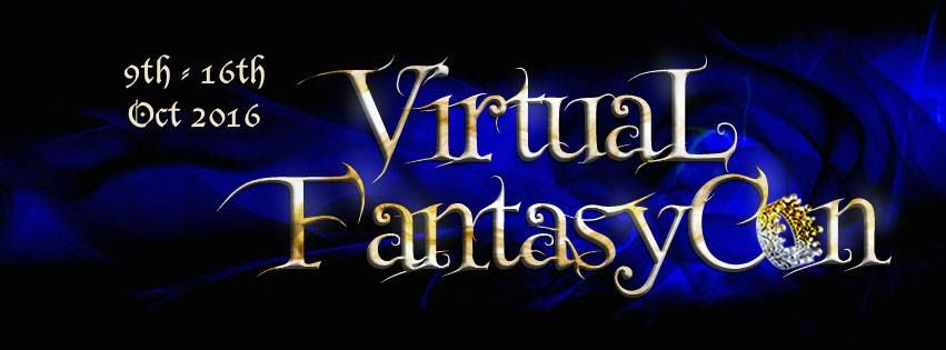 Virtual FantasyCon banner with dates